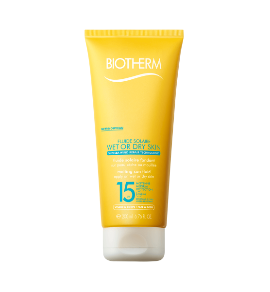 Biotherm Fluide Solaire Wet or Dry Skin SPF15 Gesicht & Körper