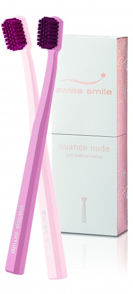 Swiss Smile nuance nude two toothbrushes Zahnbürsten